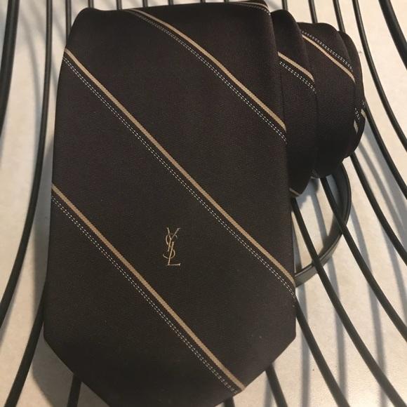 Other - YSL vintage chocolate brown tie
